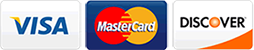 Now accepting Visa, Mastercard, and Discover payments