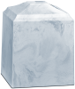 White Carrera Keepsake Medium Urn