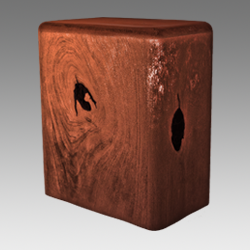 Rusic Solid Wood Urn