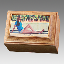 Tuscany Wood Portrait Urn
